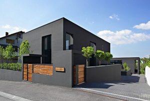 fachada gris