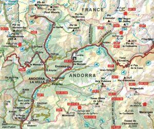 mapa alpina