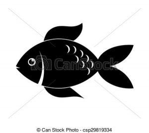 silueta de pez