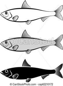 silueta sardina