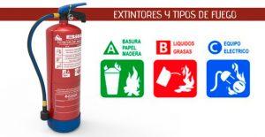 tipos extintores