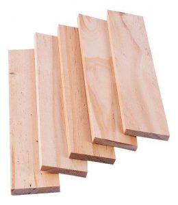 tiras de madera
