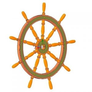 volante de barco